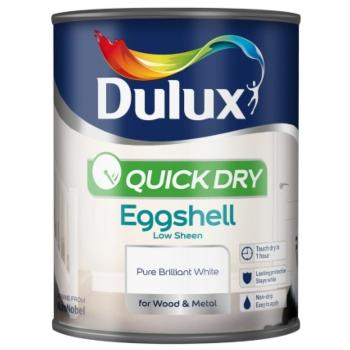 Dulux Quick Dry Eggshell White 750ml